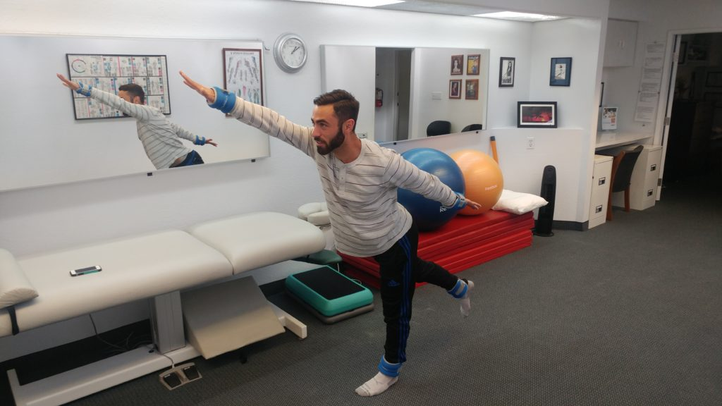 Tustin neck pain athletes improve overall performance with active therapy exercises at our Tustin chiropractic office