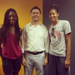 Professional Basketball Stars Nneka Ogwumike and Candace Parker with Dr. Shouka
